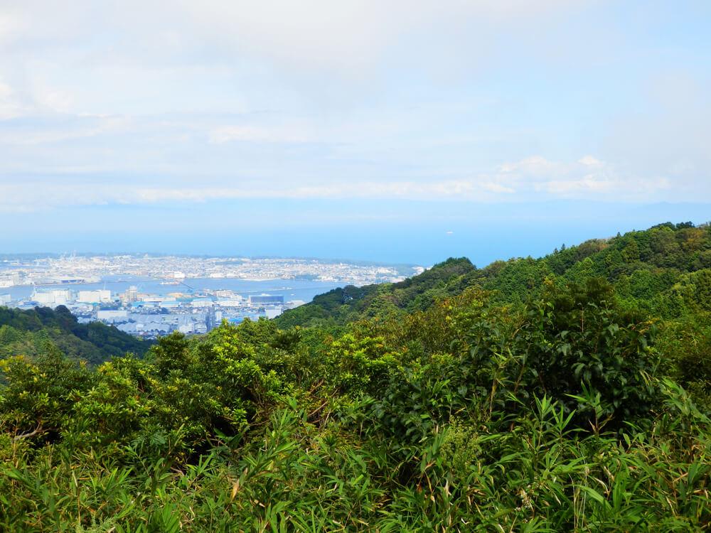 日本平の北東方面からの駿河湾の眺望