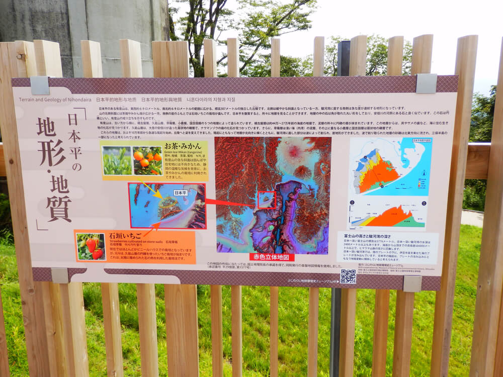 日本平の地形・地質についての案内板