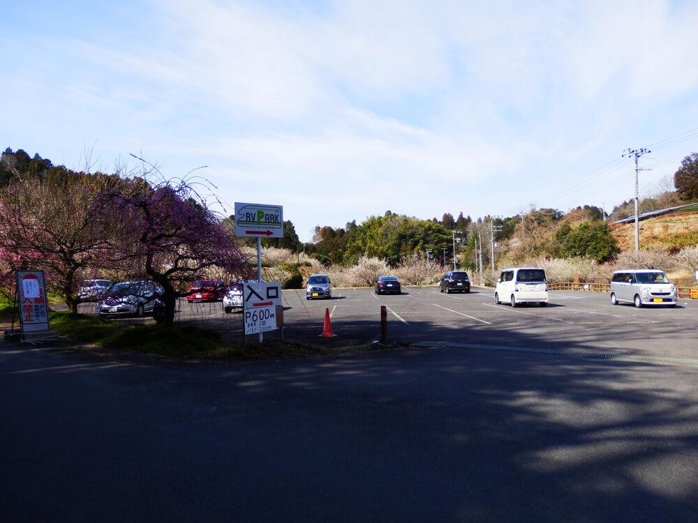 ロマントピア月ヶ瀬の駐車場
