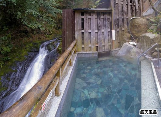 湯泉地温泉滝の湯の露天風呂