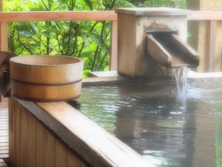 温泉とたらい