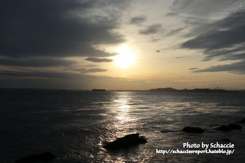 東京湾フェリー-海-夕-1