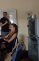 おまけ。午後の会話クラス。フィオレンティーナの先生とデンマーク人