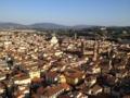 左からSanta Croce、Museo Bargello、Badia fiorentina、奥にPiazzale MichelangeloとSan Sal
