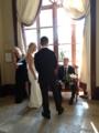結婚式とのこと