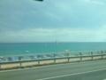 海岸沿いをずーっと。たまにトンネル