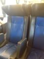 旧車両の座席