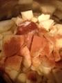 ついでに林檎と蜂蜜と砂糖とシナモンも煮た