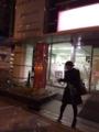 深夜の新宿でシャボン玉