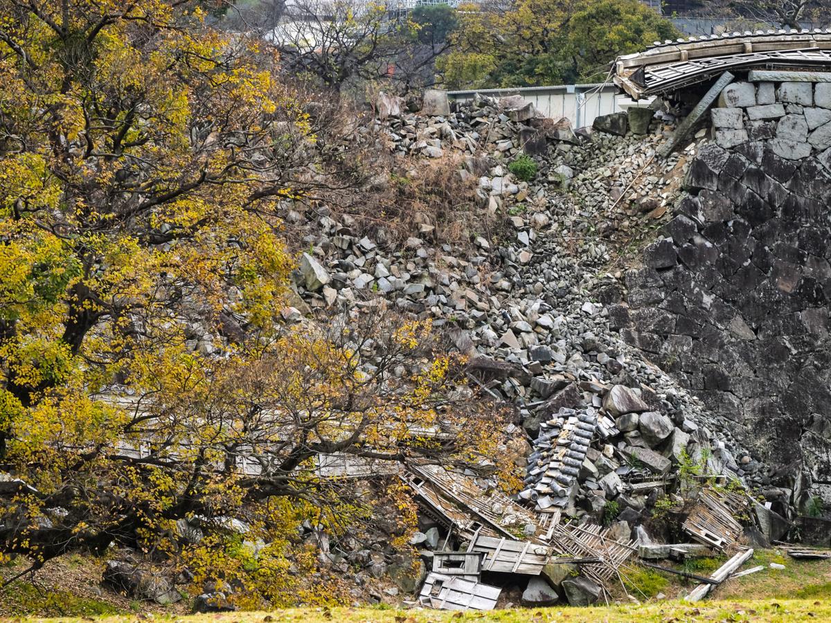 2016年の熊本地震で被災した熊本城