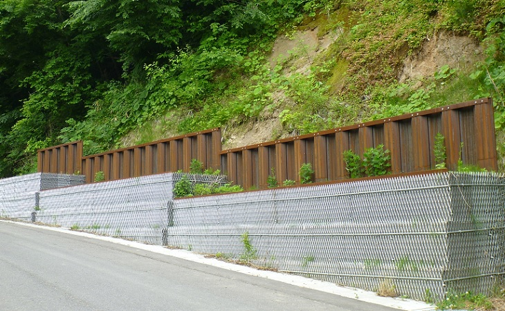 擁壁工の工事の例