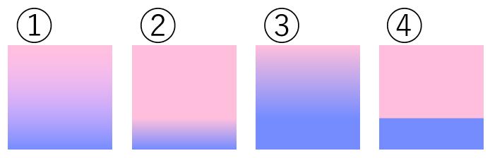 グラデーションの画像