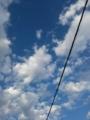 空に線を描く