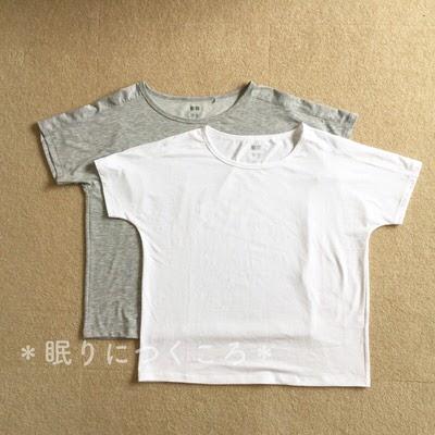 ユニクロスポーツのエアリズムクルーネックTシャツ白とグレーの置き画