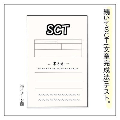 SCT(文章完成法)テストの表紙イメージ