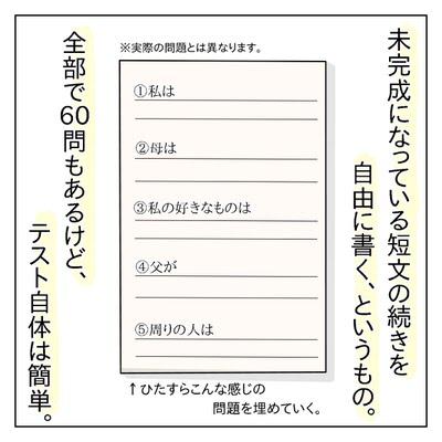 SCT(文章完成法)テストの問題例イメージ
