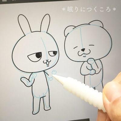 新型iPadでデジタルイラストを描く