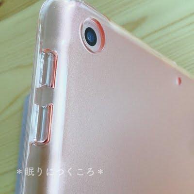 新型iPadケースの側面ボタンとカメラアップ
