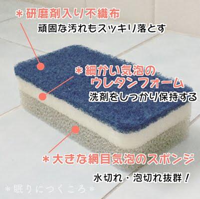 ダスキン台所用スポンジ三層構造の説明