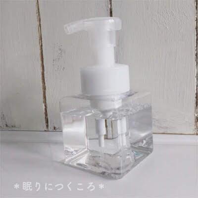 トイレ掃除用にまめピカを無印良品の泡ボトルに詰め替え