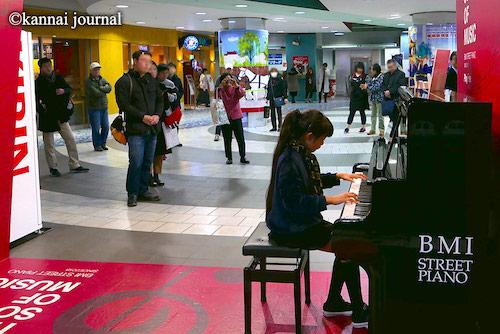 関内駅:BMIストリートピアノ
