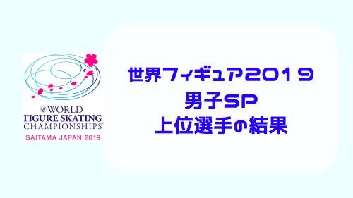 世界フィギュアスケート選手権2019・男子SP結果