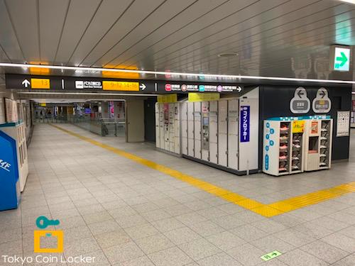 渋谷駅 宮益坂中央改札口 コインロッカー