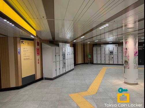 渋谷駅 地下1階 渋谷109地下入口 コインロッカー