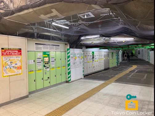JR渋谷駅・ハチ公改札口付近のコインロッカー