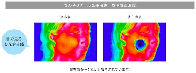 夏におすすめの化粧下地・つけるとひんやり−5℃