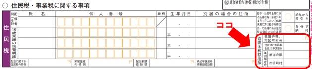 ふるさと納税を確定申告:記載する箇所その2