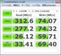 ReadSSD C300, 890GXM-G65, Win7pro 64bit, AHCIじゃなくてIDEモードにて