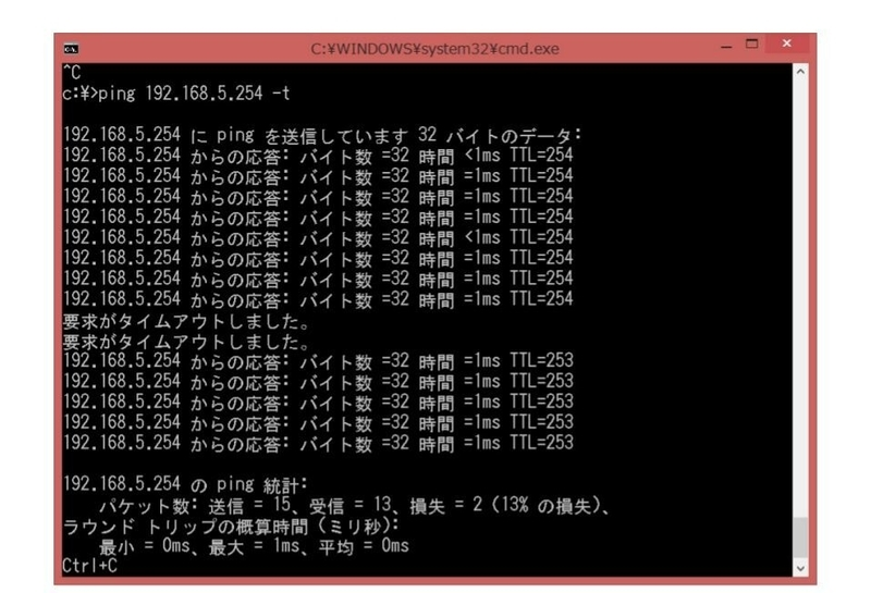 6.RIPとOSPFの経路変更時間の違い_(2)OSPFの場合