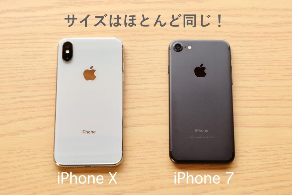 iPhoneXとiPhone7の背面