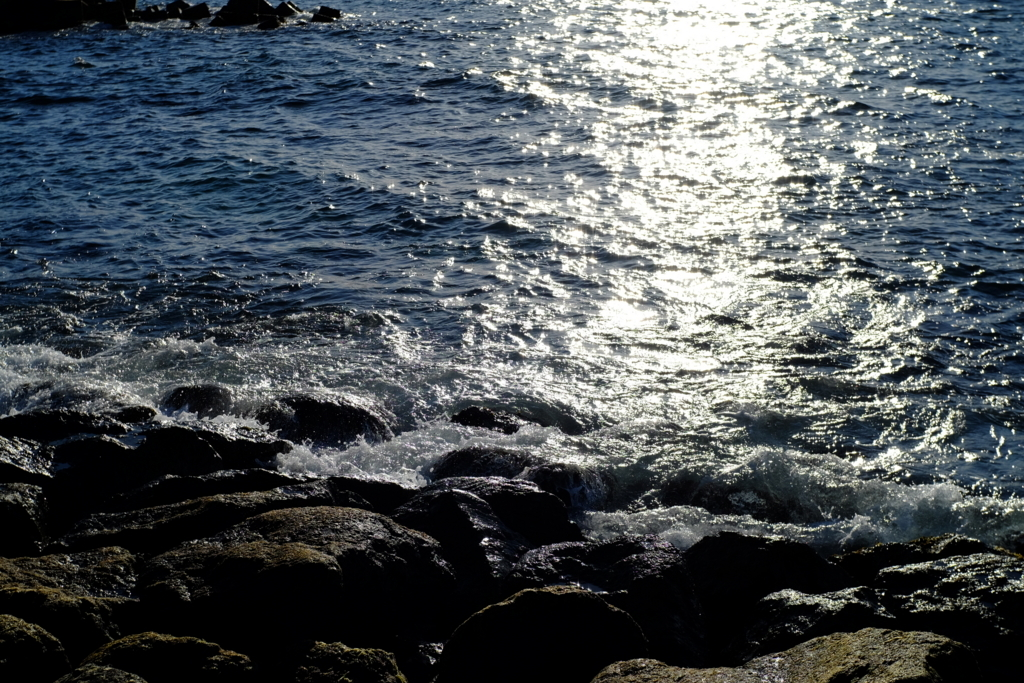 Meike 35mm f1.7 日本海の波