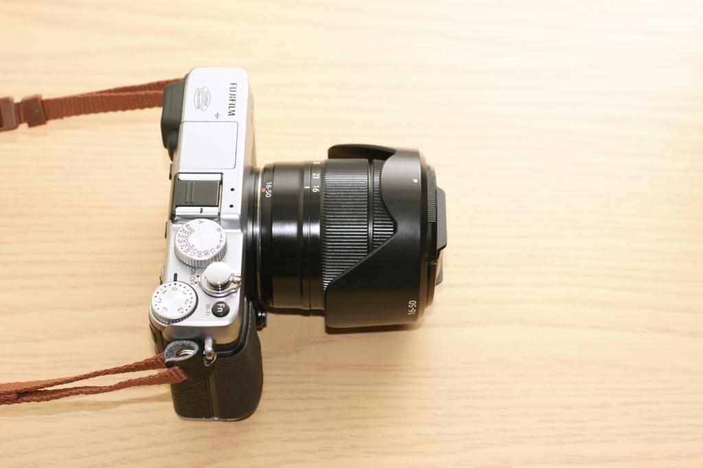 XC16-50mm F3.5-5.6 OIS フード収納時のレンズ長