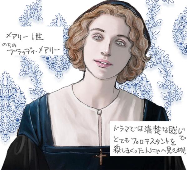 BBCドラマ「ウルフ・ホール」のメアリー1世