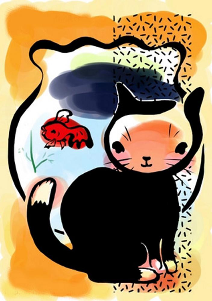 金魚と猫と
