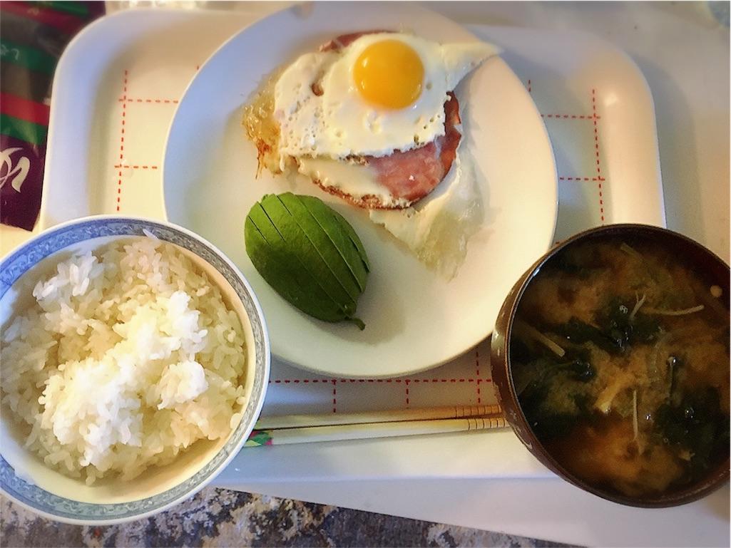 朝食 アボカド