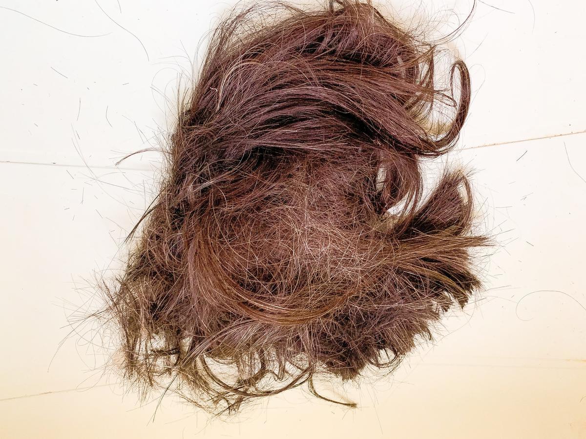 4年間伸ばしっぱなしだった髪をセルフカットして断捨離しました