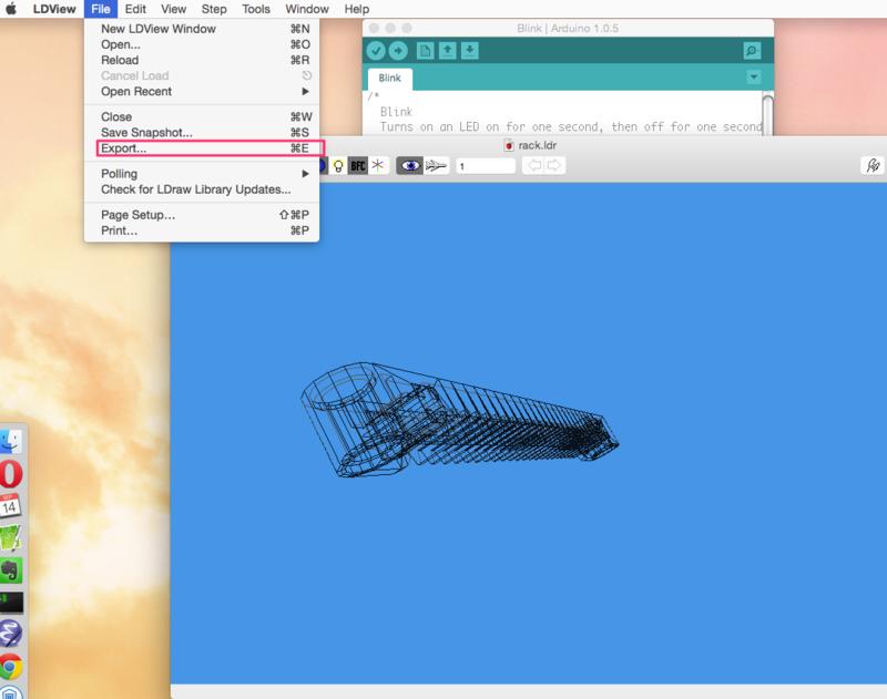 LEGO designerで3Dプリント用のstlを作成する - how to code