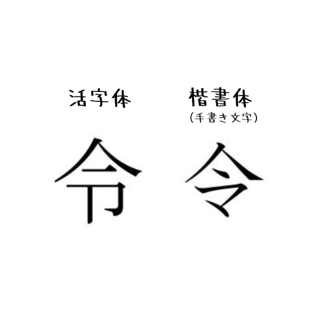 令 活字体 楷書体