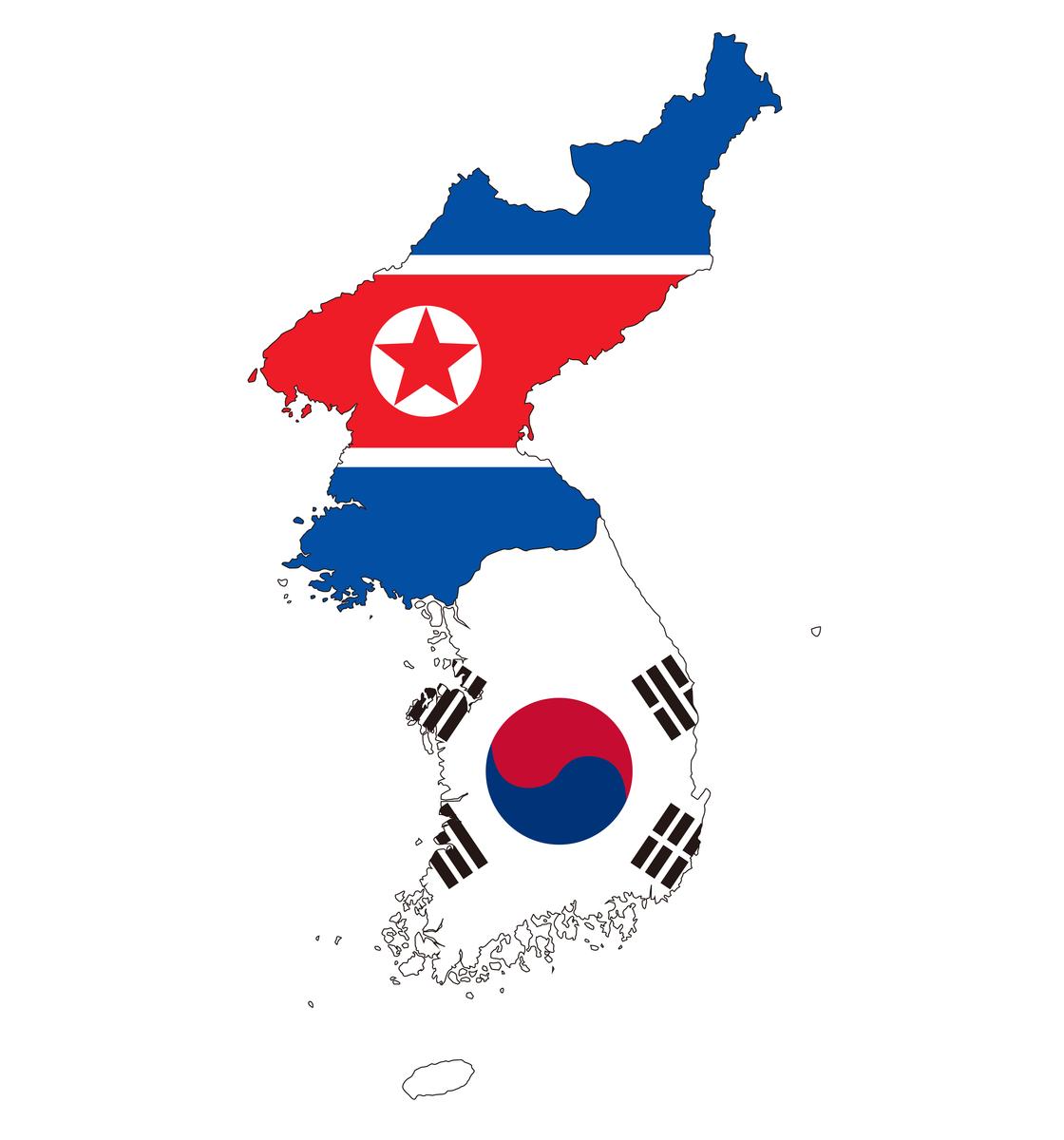 南北に分断された朝鮮半島