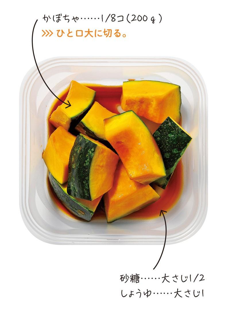 かぼちゃのしょうゆ煮の材料