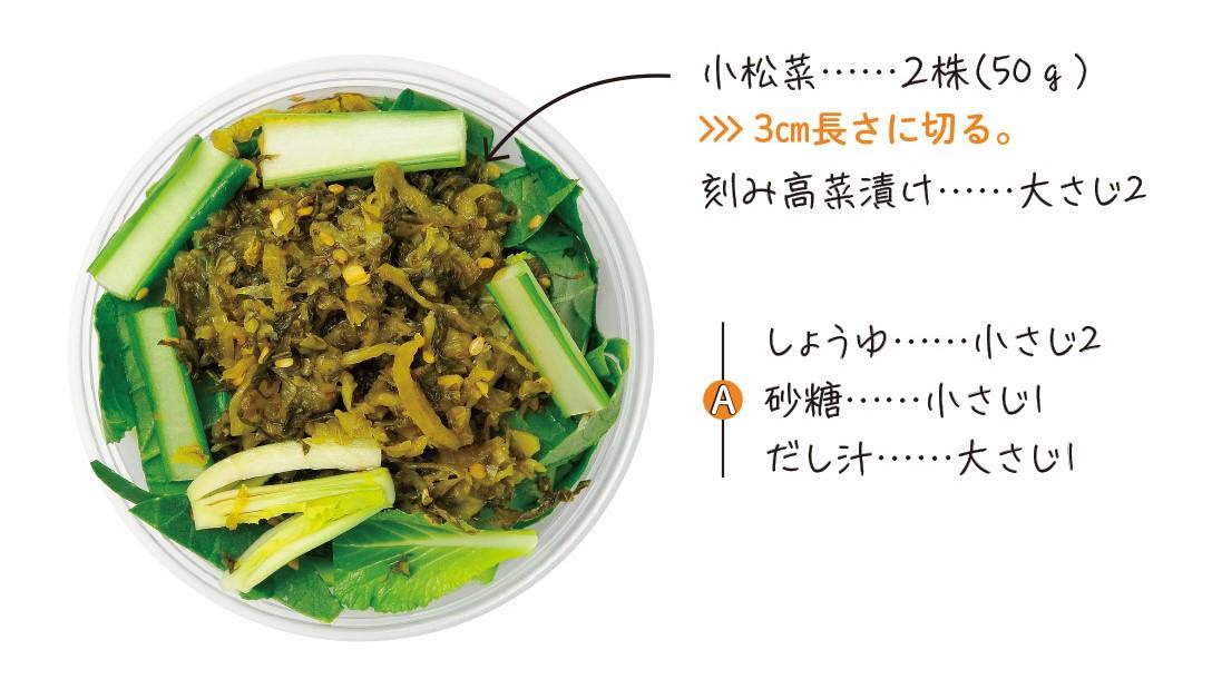 小松菜のくたくた煮素材