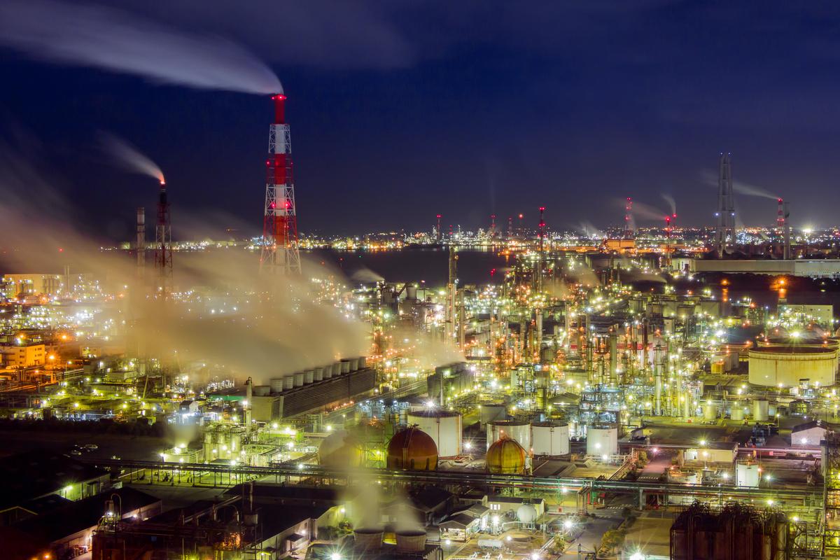 四日市コンビナートの工場夜景