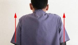 肩を上げる
