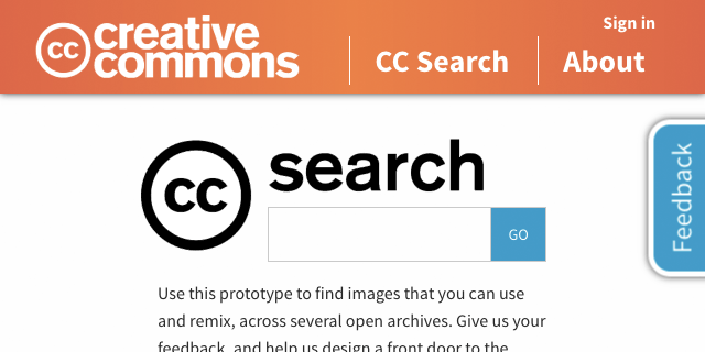 CC Search prototype