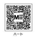 MiiハートQRコード