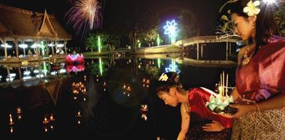 タイのチェンマイのロイクラトン(灯籠流し)2016のスーパームーンの夜の開催と日本の灯籠流しとの違い